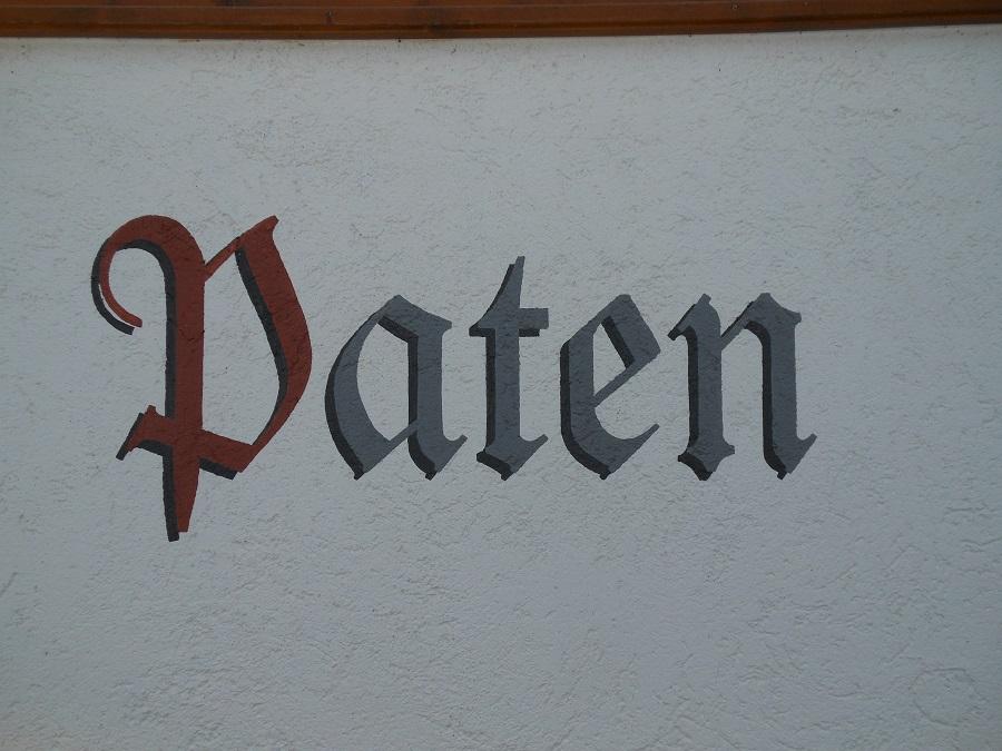 Schrift auf Fassade
